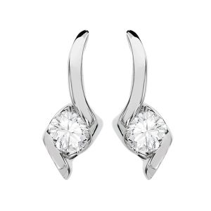 Kiara,Sparkles Diamond Jewellery - Kiara Swarovski Elements Traditional Yellow Gold Plated Earring  # KIE0128