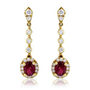 Soie,Port,Ag,Cloe,Kiara,Mahi Diamond Jewellery - Kiara Swarovski Elements Traditional Yellow Gold Plated Earring  # KIE0129