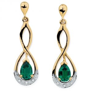 kiara,sparkles,jagdamba,triveni Diamond Earrings - Kiara Swarovski Elements Traditional Yellow Gold Plated Earring  # KIE0142