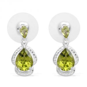 Kiara Swarovski Elements White Gold Plated Earring Kie0235