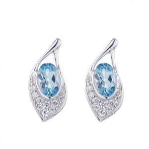 Kiara Swarovski Elements White Gold Plated Earring Kie0254