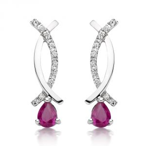 Kiara Swarovski Elements White Gold Plated Earring Kie0259