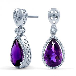 Kiara Swarovski Elements White Gold Plated Earring Kie0280