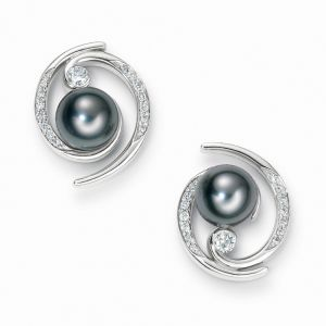 Kiara Swarovski Elements White Gold Plated Earring Kie0324
