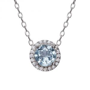 Kiara Sterling Silver Pendant Made With Cubic Zirconia Stone( Code - Kip0195 )