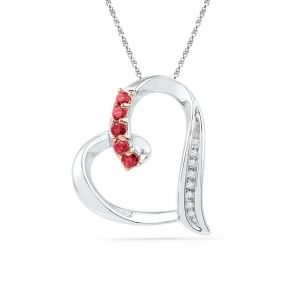 Kiara Sterling Silver Pendant Made With Cubic Zirconia Stone( Code - Kip0258 )