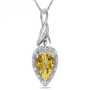 Kiara Sterling Silver Pendant Made With Cubic Zirconia Stone( Code - Kip0270 )