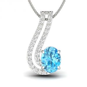 Kiara Sterling Silver Pendant Made With Cubic Zirconia Stone( Code - Kip0273 )