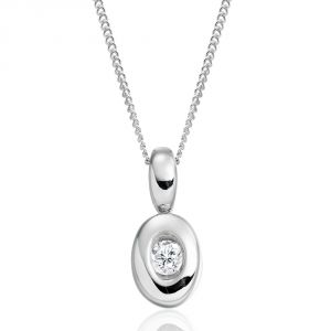Kiara Sterling Silver Pendant Made With Swarovski Zirconia Kip0310