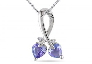 Kiara Sterling Silver Pendant Made With Swarovski Zirconia Kip0322