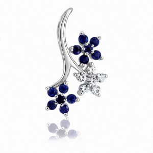 Kiara Sterling Silver Pendant Made With Swarovski Zirconia Kip0339