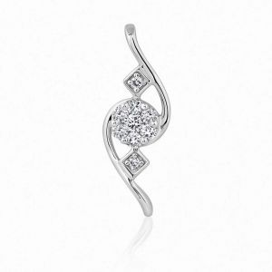 Kiara Sterling Silver Pendant Made With Cubic Zirconia Stone Kip0340