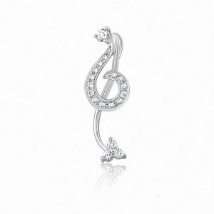 Kiara Sterling Silver Pendant Made With Cubic Zirconia Stone( Code - Kip0354 )