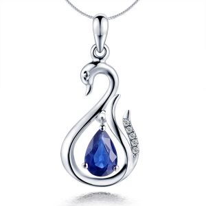 Kiara Sterling Silver Pendant Made With Swarovski Zirconia Kip0359