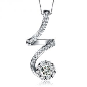 Kiara Sterling Silver Pendant Made With Swarovski Zirconia Kip0373