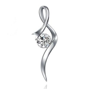 Kiara Sterling Silver Pendant Made With Swarovski Zirconia Kip0380