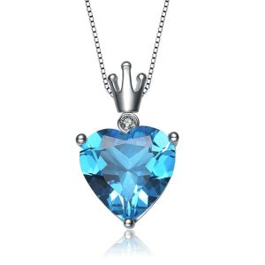 Kiara Sterling Silver Pendant Made With Swarovski Zirconia Kip0384
