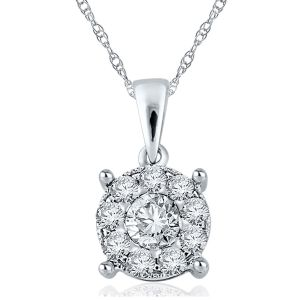Kiara Sterling Silver Pendant Made With Swarovski Zirconia Kip0278