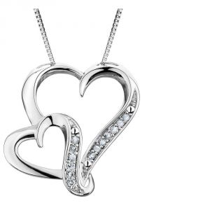 Kiara Sterling Silver Pendant Made With Swarovski Zirconia Kip0279