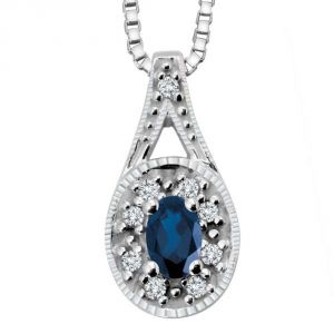 Kiara Sterling Silver Pendant Made With Swarovski Zirconia Kip0288