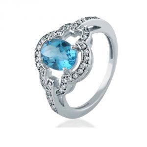 Kiara Sterling Silver Ring Made With Swarovski Zirconia Kir0480