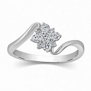 Kiara Sterling Silver Ring Made With Swarovski Zirconia Kir0484
