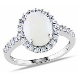 Silver Rings - Kiara Swarovski Signity Sterling Silver Prajakta Ring KIR0832