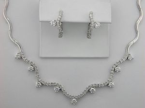 Diamond Wedding Ceremony Necklace Set