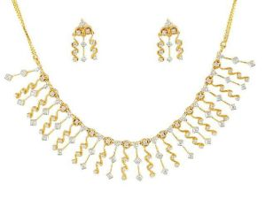 Diamond 14k Yellow Gold Wedding Necklace