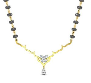 Avsar Real Gold And Diamond Kimaya Necklece12