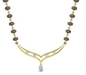 Avsar Real Gold And Swarovski Stone Vidya Necklace6yb