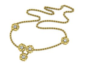 Avsar Real Gold And Diamond Priyanaka Necklece7