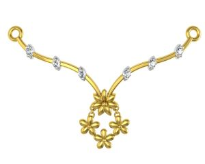 Gold Jewellery - Avsar Real Gold and Swarovski Stone Manipur Necklace8YB