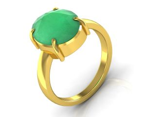 Kiara Jewellery Certified Haqiq 9.3 Cts Or 10.25 Ratti Green Onyx Ring