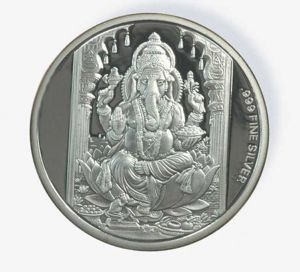 Triveni,Platinum,Estoss,Ag,N gal,Sangini Women's Clothing - 200 Gm AG 999 Pure Silver Coin