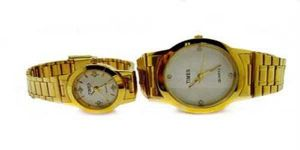 Times Real Diamond Combo Gents & Ladies Watches