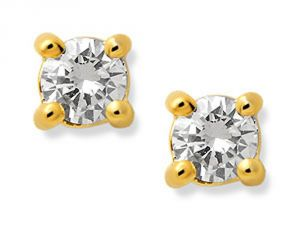 Tarang Real Diamond Two Stone Earring # Tae001