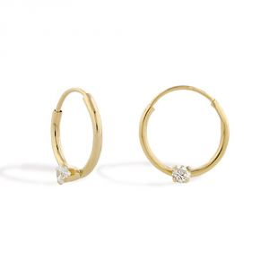 Tarang Real Diamond Two Stone Dangle Earring # Tae004