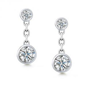 Tarang Real Diamond Two Stone Fancy Dangle Earring # Tae008