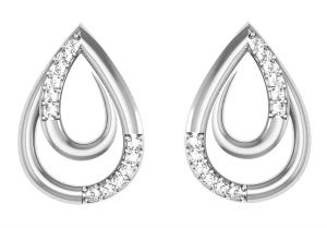 Avsar Real Gold And Diamond Mayuri Earring ( Code - Tape009wn )