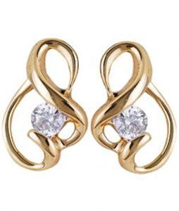 Tarang Real Diamond Two Stone Fancy Earring # Tae011