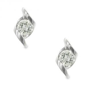 Tarang Real Diamond Two Stone Fancy Earring # Tae015