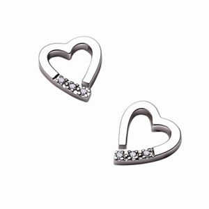 Tarang Real Diamond Six Stone Heart Earring # Tae017