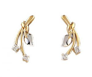 Tarang Real Diamond Four Stone Earring Tae020