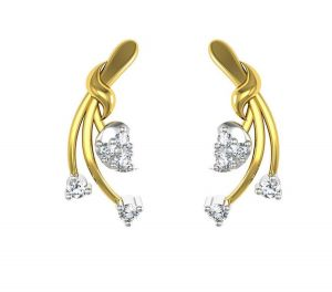 Avsar Real Gold And Swarovski Stone Deepika Earring Tae020wb