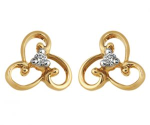 Tarang Real Diamond Two Stone Earring Tae021