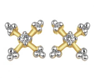 Tarang Real Diamond Ten Stone Earring Tae022