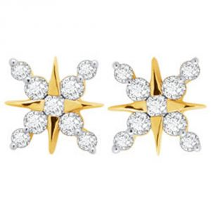 Tarang Real Diamond Eighteen Stone Earring Tae024