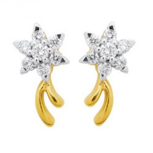 Tarang Real Diamond Fourteen Stone Earring Tae025