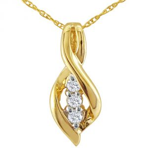 Tarang Real Diamond Three Stone Line Fancy Pendant # Tap002